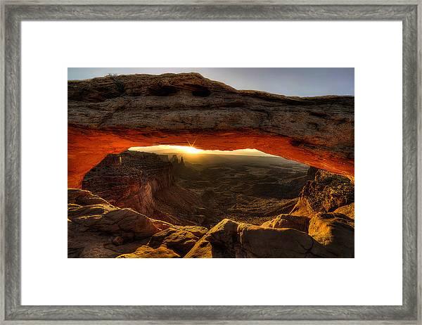 Morning Glow At Mesa Arch Framed Print