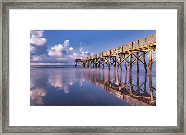 Morning Gold - Isle Of Palms, Sc Framed Print