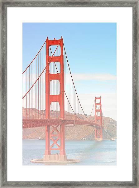 Morning Has Broken - Golden Gate Bridge San Francisco Framed Print