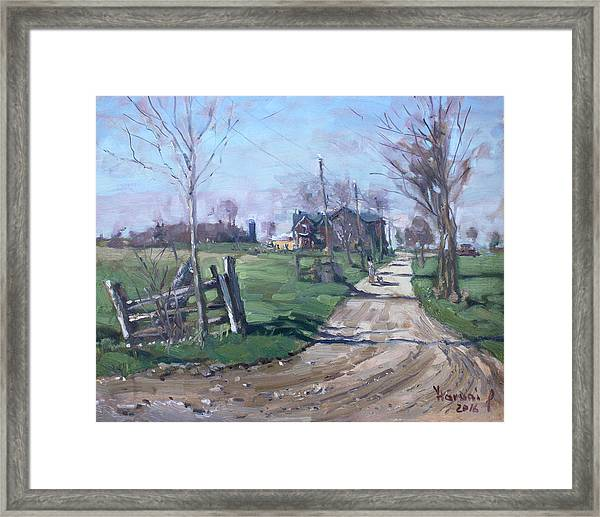 Morning In The Farm Georgetown Framed Print