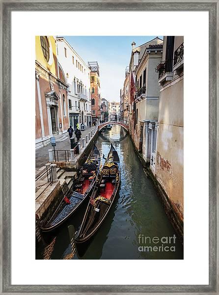 Morning In Venice In Winter Framed Print
