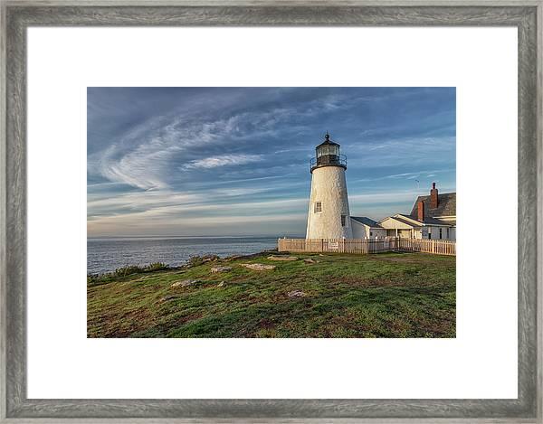 Morning Light At Pemaquid Point Framed Print