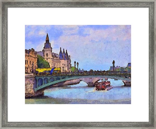 Morning Light In The City Of Light Framed Print