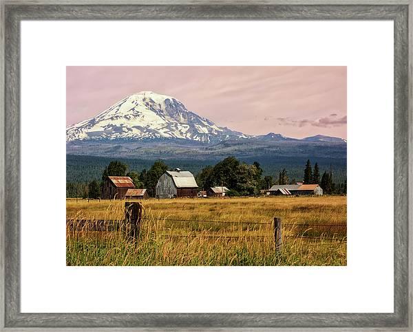 Morning Light On Mount Adams Framed Print