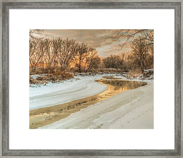 Framed Print featuring the photograph Morning Light On The Riverbank by Garvin Hunter