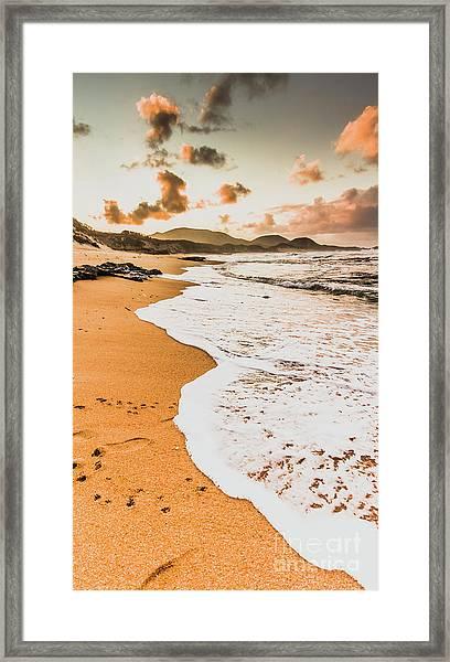 Morning Marine Wash Framed Print