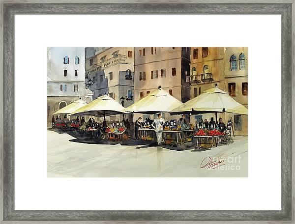 Morning Market Framed Print