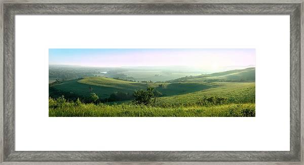 Morning Mist - Kansas River Valley Framed Print