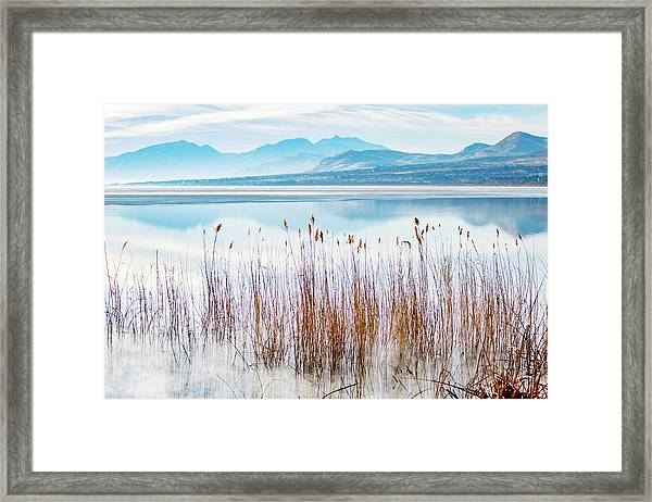 Morning Mist On The Lake Framed Print