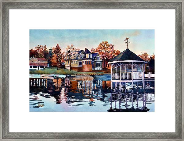 Morning On Silver Lake Framed Print