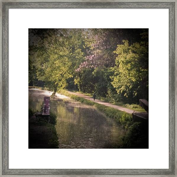 Framed Print featuring the photograph Spring Morning On The Canal by Samuel M Purvis III