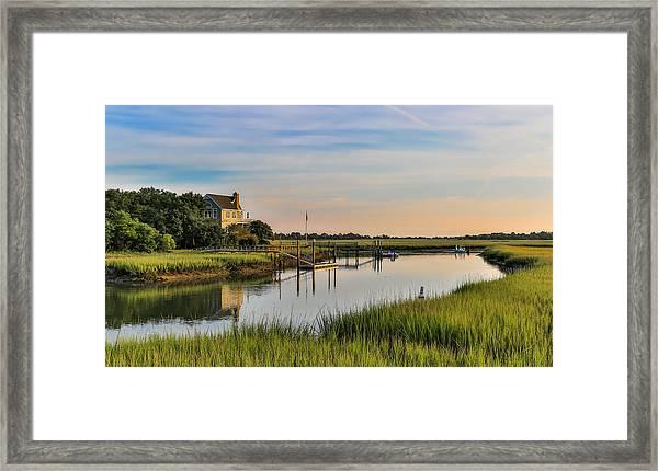 Morning On The Creek - Wild Dunes Framed Print