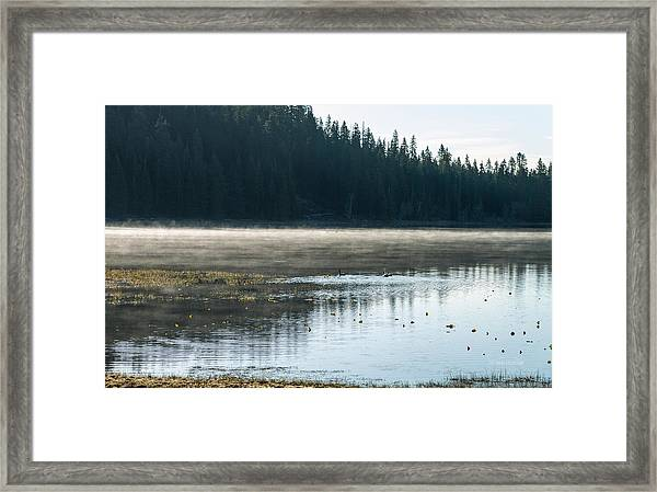 Morning On Wilson Lake  Framed Print by The Couso Collection