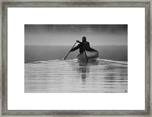 Morning Paddle Framed Print