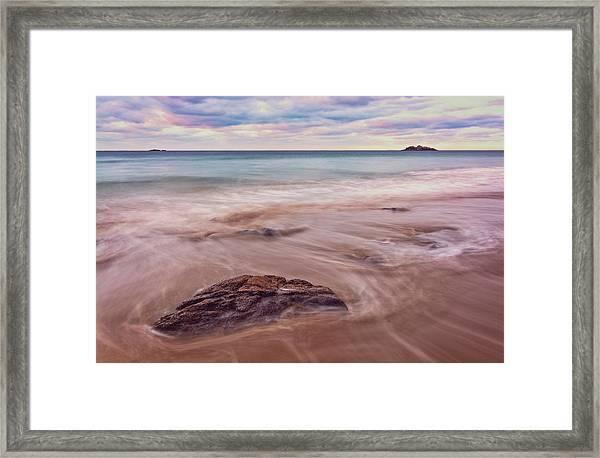 Morning Pastels Singing Beach Ma Framed Print