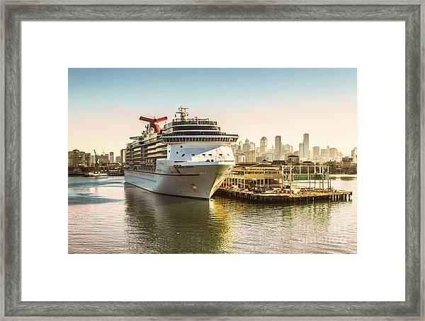 Morning Port Framed Print