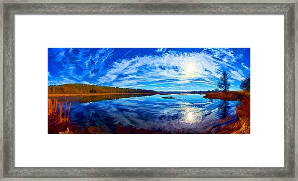 Morning Reflections At The Moosehorn Framed Print