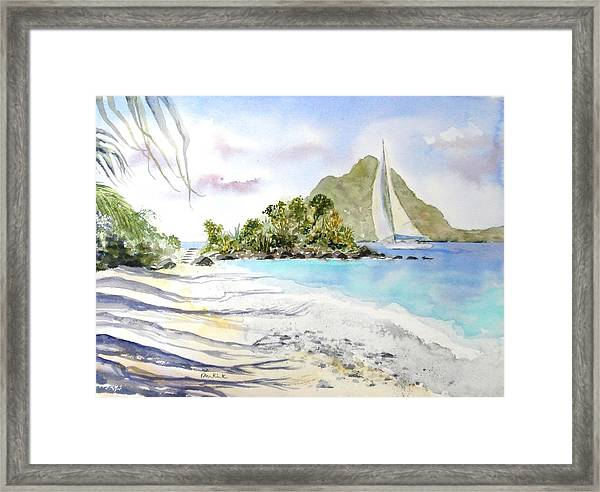 Morning Shadows, Little Thatch Framed Print