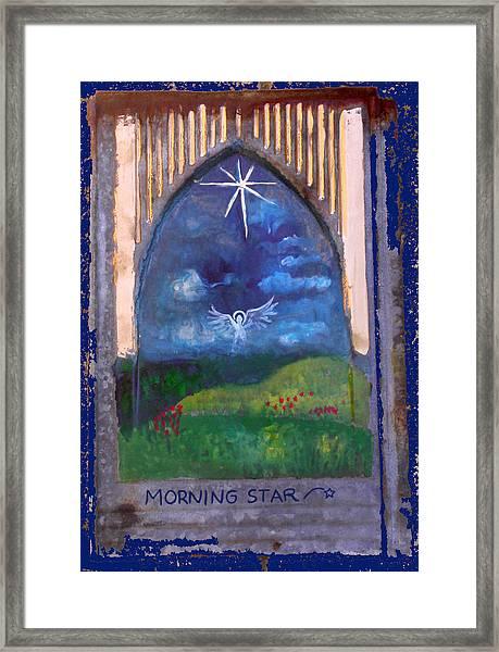 Morning Star Folk Art Framed Print