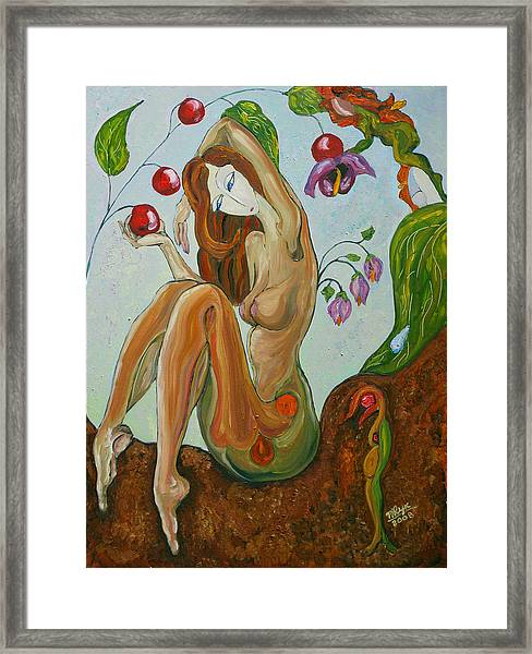 Morning Touch Framed Print by Mila Ryk