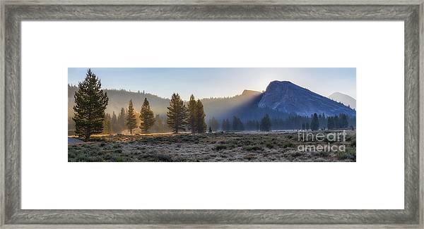 Morning Tuolomne  Framed Print