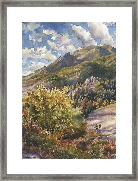 Morning Walk At Mount Sanitas Framed Print