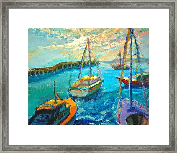 Framed Print featuring the painting Mornington Pier by Yen