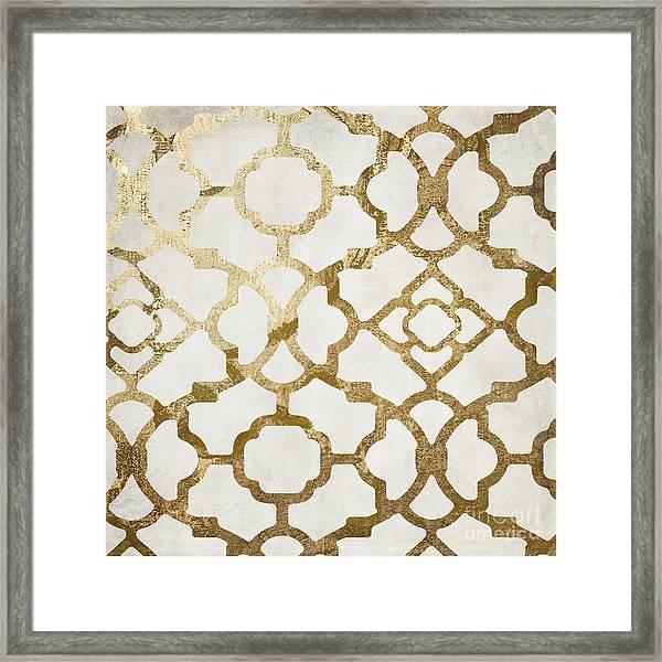 Moroccan Gold I Framed Print