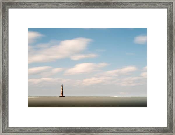 Morris Island Lighthouse Color Framed Print