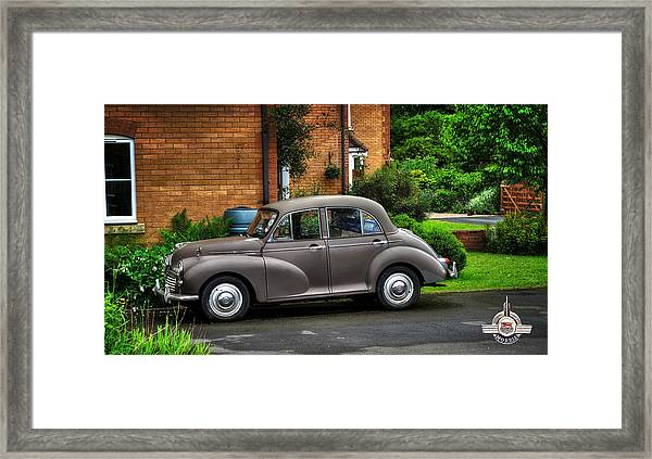 Morris Minor Framed Print