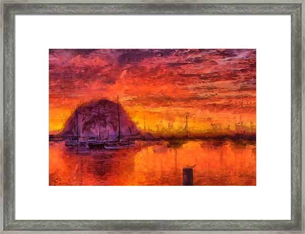Morro Bay Marina Framed Print