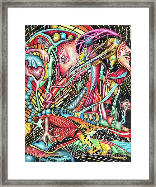 Mortal Fiber Framed Print