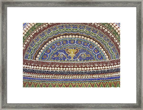 Mosaic Fountain Detail 4 Framed Print