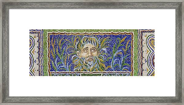 Mosaic Fountain Face View 2 Framed Print