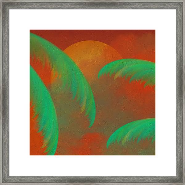 Mosaic Sunrise Framed Print
