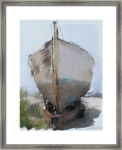 Moss Landing Boat Framed Print