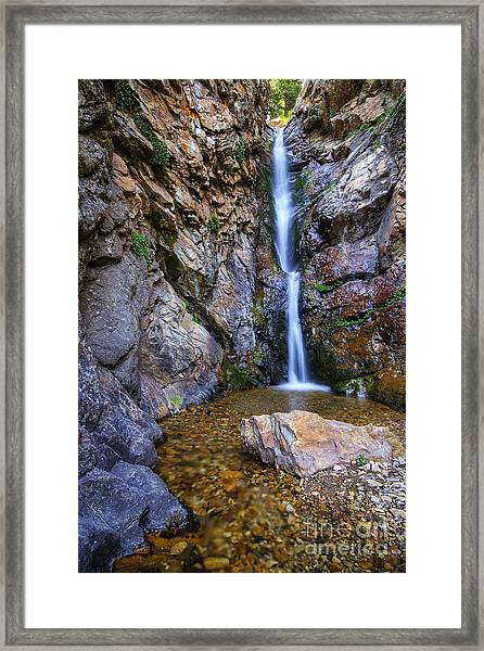 Moss Ledge Waterfall Framed Print