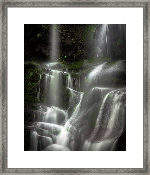 Mossy Waterfall Framed Print