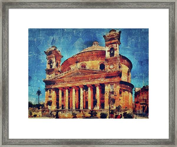 Mosta Church Framed Print