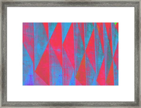 Mostly Blues And Reds Framed Print