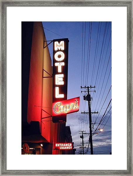Motel Capri Framed Print by Mark Stevenson