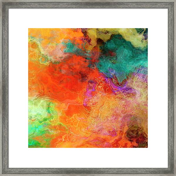 Mother Earth - Abstract Art - Triptych 2 Of 3 Framed Print