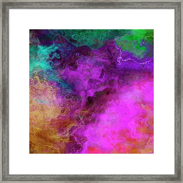 Mother Earth - Abstract Art - Triptych 3 Of 3 Framed Print