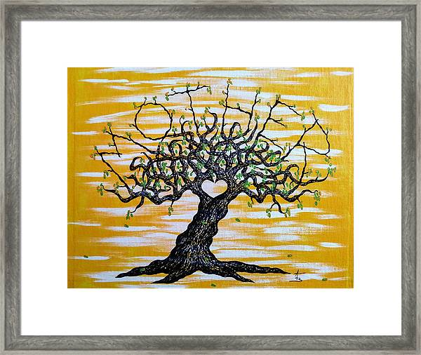Framed Print featuring the drawing Mother Love Tree by Aaron Bombalicki