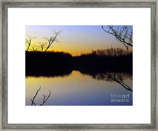 Mother Natures Glow Framed Print