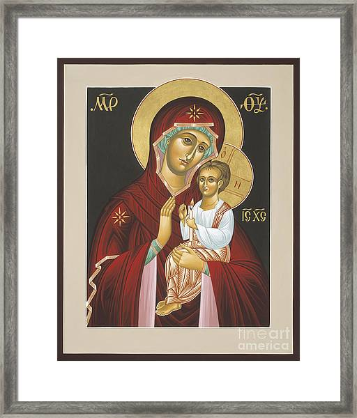 Mother Of God Light In All Darkness 016 Framed Print