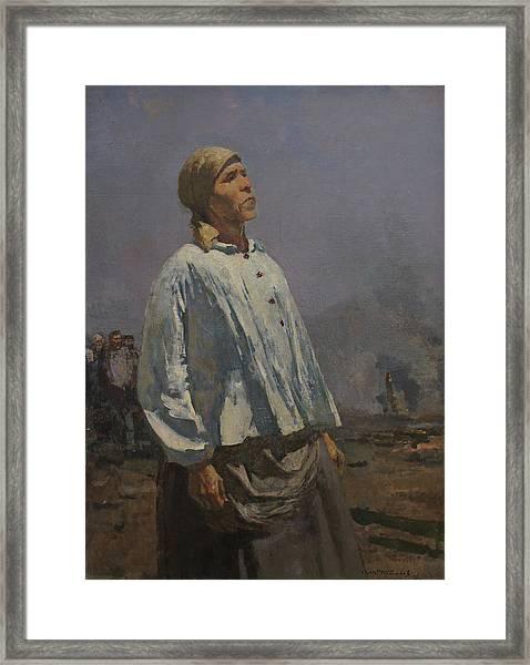 Mother Of Partisan Framed Print by Sergey Gerasimov