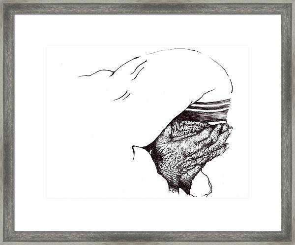 Mother Teresa-pray Today Framed Print