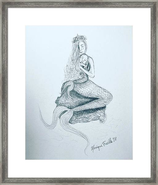 Motherhood Mermaid Framed Print