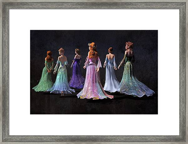 Mothers And Daughters Framed Print